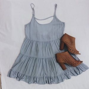 Brandy Melville Light Blue Jada Mini Dress